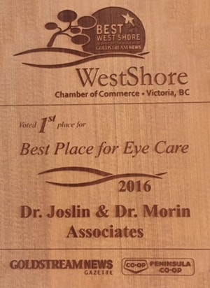 Best place for Eye Care Award 2016